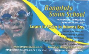 Rangitoto Swim School Business Card